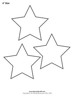 Free printable star templates for your art projects. Use