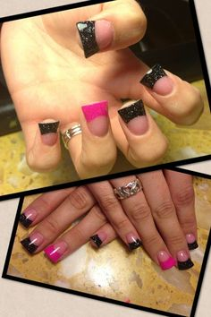 Cute flared nails done @Andy Nails in indianapolis,in