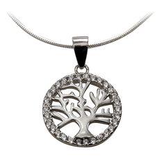 Ezüst életfa medál cirkónia díszítéssel Pendant Necklace, Jewelry, Jewlery, Jewerly, Schmuck, Jewels, Jewelery, Drop Necklace, Fine Jewelry