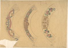 Anonymous, French, 19th century | Three Designs for Plate Borders (recto); Three Designs for Plate Borders (verso) | The Metropolitan Museum of Art
