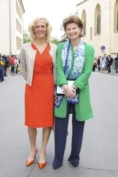 tageblatt.lu:  First Communion of Prince Gabriel of Luxembourg, May 23, 2014-Hélène Vestur (ex-wife of Prince Jean) and Princess Margaretha