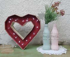 Corazón Calado para luces del arbolito de navidad. San Valentín