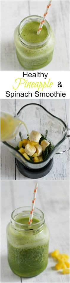 HEALTHY PINEAPPLE AND BABY SPINACH SMOOTHIE | SmartLittleCookie.net