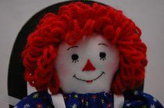 Raggedy Ann doll 9 inch, miniature Raggedy Ann, handmade by MandMneedles on Etsy