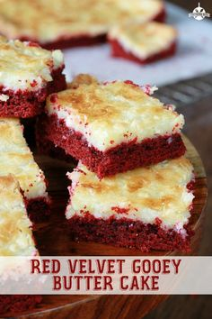 Red Velvet Gooey Butter Cake - You're only 6 ingredients from gooey perfection!