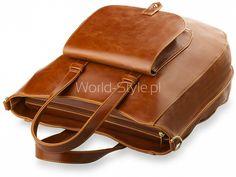 ELEGANCKA DUŻA TOREBKA Z KIESZONKĄ - WYSOKA JAKOŚĆ - CAMEL - Galanteria skórzana - torebki damskie, portfele, teczki, aktówki, torby, saszetki. Sklep World-Style.pl