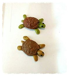 This item is unavailable Polymer Clay Turtle, Polymer Clay Crafts, What To Make, Craft Items, My Etsy Shop, Fairy, Miniatures, Cleaning, Dolls