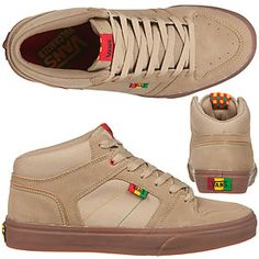 "Some ""rasta"" styling on these kicks from Vans."