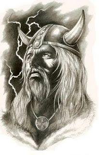 Again Old Viking Tattoo Sketch
