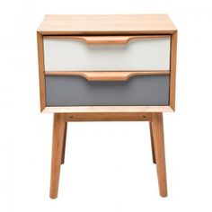 Slaapkamer on pinterest white nightstand bedside tables and scandinavian modern - Slaapkamer hout ...