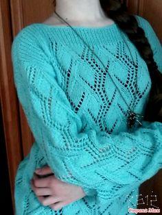 """Пул """"Нежность облаков"""" Lace Knitting Patterns, Knitting Stitches, Knitting Projects, Crochet Projects, Knit Crochet, Clothes, Knits, Fashion, Knitting Sweaters"""