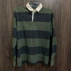0f0e6ae8 Vintage 90s Polo Ralph Lauren Rugby Shirt Style Big Striped by  bintangclothingstore on Etsy https: