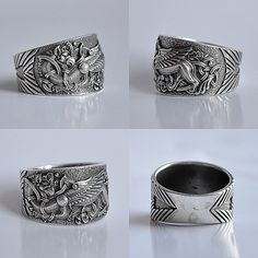 """Sterling Silver ring """"Griffin""""."""