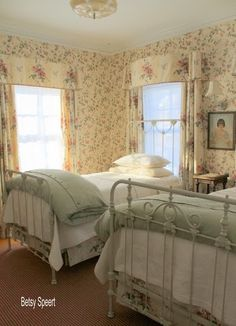How to Dress a Cottage Bed to Get a Layered Look - via Betsy Speert