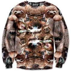 Sloth Collage Sweatshirt