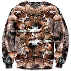Sloth Collage Sweatshirt