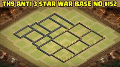 Clash of Clans | Town Hall 9 Anti 3 Star War Base | Layout 152