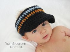 CROCHET PATTERN Golf Visor 4 sizes included by YarnBlossomBoutique