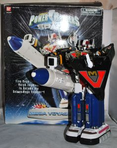 Power Rangers In Space - Deluxe Mega Voyager Megazord, Boxed, 100% Complete RARE