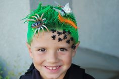 This is awesome! I never know what to do with BOYS hair on Crazy Hair Day at school!  You HAVE to check out these CRAZY HAIR pics! Amazing!
