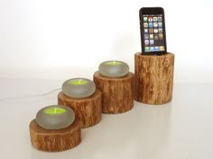 iPhone Dock and Candle Holder home decor  Unique by valliswood, $85.00