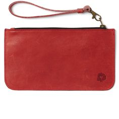The Margaret Wristlet -- hand-crafted in Kenya, with removable wrist strap // available in red, navy, or black leather