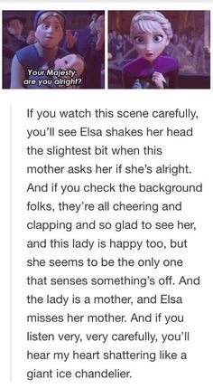 OMG... I want to cry, I did notice Elsa shaking her head the slightest bit though.