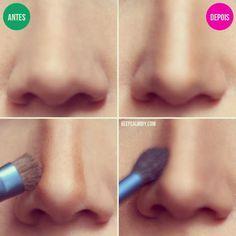 Trucos de maquillaje para achicar la nariz