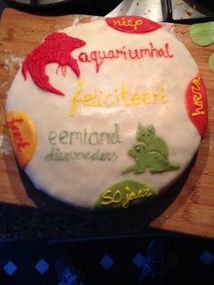 Marsepijn taart voor de aquariumhal in Amersfoort gemaakt