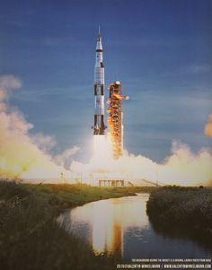 Apollo Exploration Missions Cooperative Apollo 10 Crew W/ Saturn V Rocket 11x14 Silver Halide Photo Print
