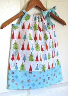 Pillowcase Christmas Dress??  Too cute!