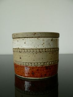 Denby mid century modern pottery bowl with lid / by secreteyesonly, $29.00