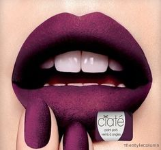 Ciate Velvet Manicure This nail ad had me at hello with its matte deep purple lips. I think I can achieve this editorialized image with lipstick and eyeshadow layers. No kisses but still a good time! Ciate Nail Polish, Fall Nail Polish, Manicure Set, Mani Pedi, Velvet Nails, Purple Lips, Deep Purple, Dark Blue, Hair Magazine