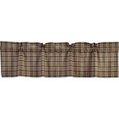 Wyatt Plaid Curtain Valance 60 x 16 Plaid Curtains, Country Curtains, Valance Curtains, Fox Decor, Primitive Homes, Fade Color, Plaid Fabric, Plaid Pattern, Throw Rugs