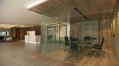 An open meeting area that fit six overlooking the reception and waiting area. O… – Office İnterior İdeas Interior Design Process, Office Interior Design, Office Interiors, Waiting Area, Reception, Layout, Fit, Furniture, Home Decor
