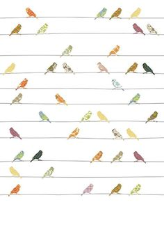 Decoration for nursery and children room. Vintage wallpaper from INKE Kindergarten Wallpaper, Nursery Wallpaper, Kids Bedroom, Baby Kids, Children, Xl, Decor, Birds, Wall Ideas