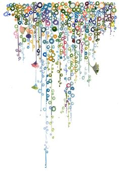 "♥♥♥ ~ ""Watercolour Illustration Print - String of Pearls"" by silverridgestudio. ~"