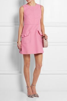 Pink stretch-cotton piqué Concealed zip fastening along back 99% cotton, 1% elastane; lining: 67% acetate, 33% polyester Dry clean Designer color: Peonia