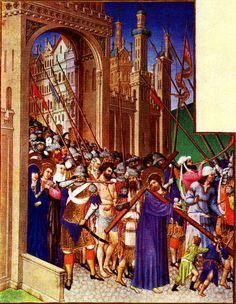 Folio 147r - The Road to Calvary