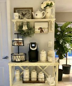Coffee Station Ideas for Your Morning Buzz kitchendecorpad.c 34 Coffee Station Ideas for Your Morning Buzz kitchendecorpad. Coffee Station Ideas for Your Morning Buzz kitchendecorpad. Coffee Bar Station, Coffee Station Kitchen, Coffee Bars In Kitchen, Coffee Bar Home, Home Coffee Stations, Tea Station, House Coffee, Shabby Chic Kitchen, Kitchen Decor