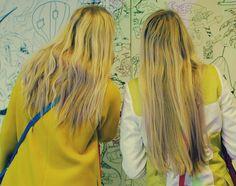 She and Hem wears Boden Lara Coat and Ingrid Coat. March 2015.