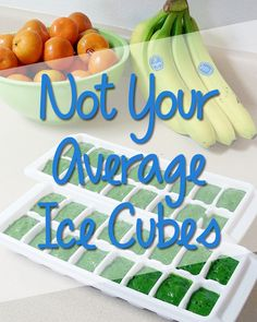 Not Your Average Ice Cubes - 5 Gourmet Ice Cube Ideas Healthy Gourmet, Healthy Drinks, Healthy Tips, Healthy Choices, Healthy Snacks, Healthy Recipes, Snacks Recipes, Juice Smoothie, Smoothies