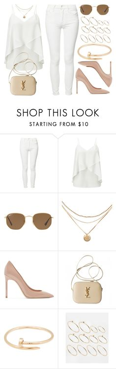 """Sin título #13099"" by vany-alvarado ❤ liked on Polyvore featuring Mother, Miss Selfridge, Ray-Ban, Yves Saint Laurent, Cartier and ASOS"