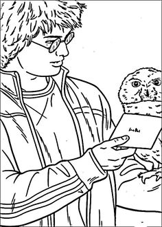 Dibujos para Colorear Harry Potter 37