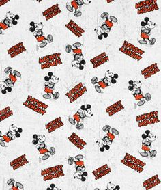 Springs Creative Disney Mickey Vintage Comic Character Toss Fabric - $6.4 | onlinefabricstore.net