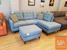 A London Sectional In Devon Baltic Fabric. Any Model In Our Fabric  Collection Can Be