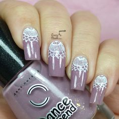 Lace Half Moon Nail Art with TUTORIAL http://lucysstash.com/2014/02/lace-half-moon-nail-art-with-tutorial.html