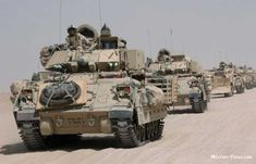 Bradley's leading a convoy of assorted combat engineer vehicles in Iraq. Military Armor, Military Life, Army Vehicles, Armored Vehicles, Bradley Ifv, Lav 25, Bradley Fighting Vehicle, Combat Gear, Military Pictures