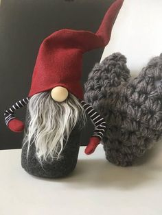 Claus the Scandinavian Christmas Gnome PDF Pattern This digital pattern will show you how to make a scandinavian inspired Christmas gnome or tomte . Finished he will be about 12 inches tall. ( This is NOT an authentic Nordic Gnome ™that I sell from my main site