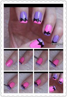 Nail art tutorial  Look on youtube to missjenfabulous